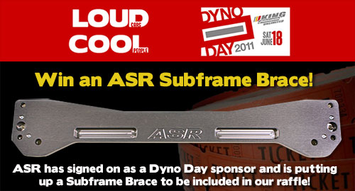 ASR A-Spec Racing Subframe Brace Free Raffle King Motorsports Dyno Day 2011