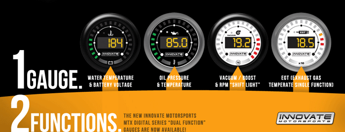 Innovate Dual Function Gauges