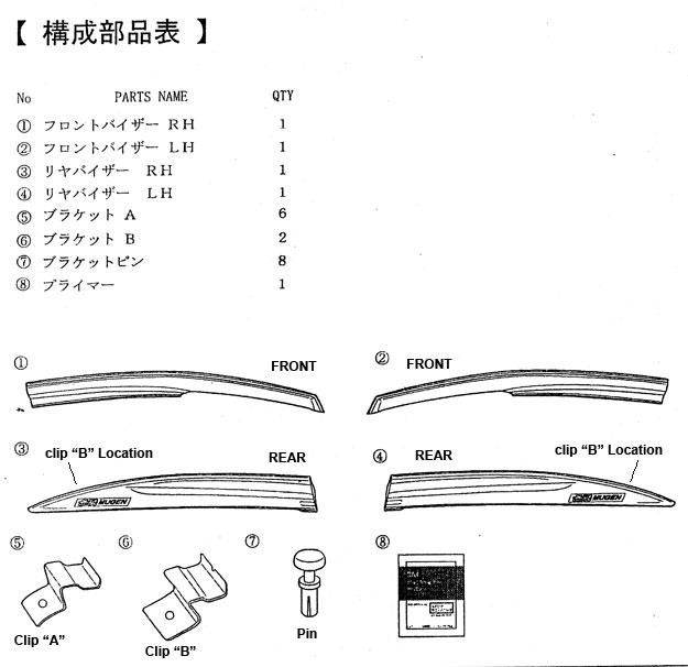 Mugen Ventilated Visor Clips For 2006-2001 Civic