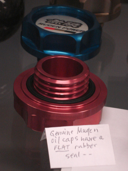 How to spot fake Mugen oil cap