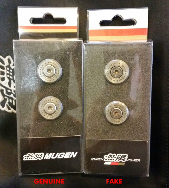 Mugen Number Plate Bolts Package Front