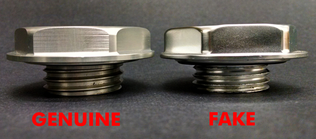6 Mugen Gen 1 Oil Filler Cap Genuine versus Fake