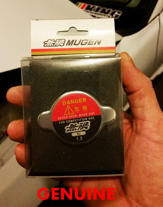 Genuine Mugen Radiator Cap Package Front