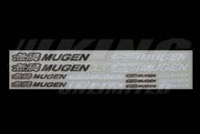 Mugen Black & White 12 Sticker Decal Set