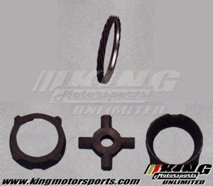 Mugen Limited-Slip Differential Option Parts - LSD 1.5way 45°+20° Pressure Ring Set
