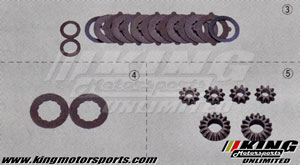 Mugen Limited-Slip Differential Repair Parts - LSD Friction Disc Set