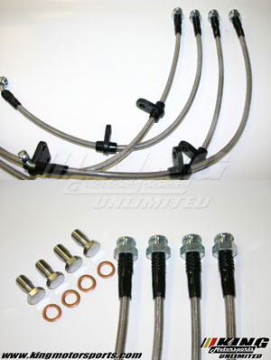 Techna Fit Braided Stainless Steel Brake Lines