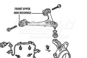 P 2611 Mugen Front End Hard Bushings