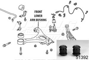 Mugen Front End Hard Bushings - Front Lower Arm Set - 2 Piece Set