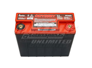 "Odyssey Extreme Battery - 680MJ - 12V, 7.27""x3.11""x6.67"", M6 Female"