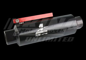 Aeromotive Fuel Filter - 100 Micron Pre-Filter/ Fuel Shutoff