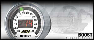 AEM Boost Display Gauge - 50 psi