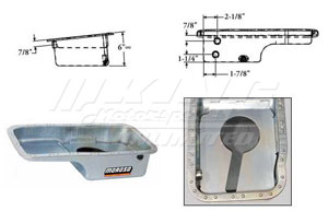 Moroso Baffled OEM Style Steel Oil Pan - B Series