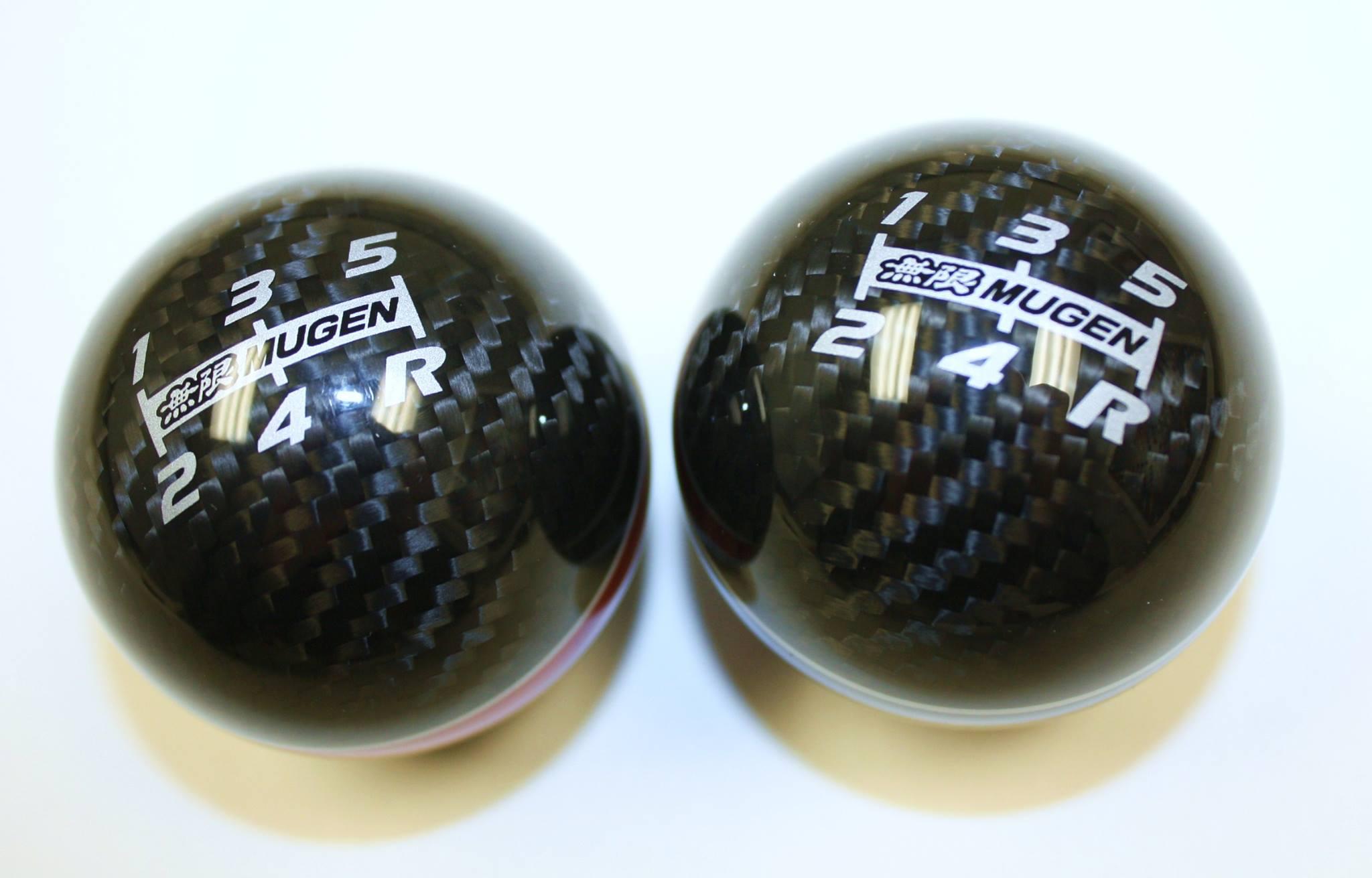 mugen carbon fiber spherical shift knob  speed  xlt ks king motorsports unlimited