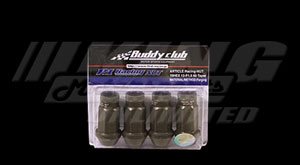 Buddy Club P1 Aluminum Racing Lug Nuts - 4 Hole Set, Straight Taper Seats Only