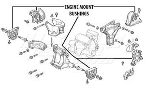 Mugen Engine Mount Set - 5 Piece Set