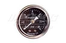Marshall Fuel Pressure Gauge - Black Face/ Silver Bezel