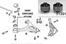Mugen Front End Hard Bushings - Front Compliance Set - 2 Piece Set