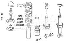 Mugen Rear End Hard Bushings - Rear Spring Mount Set