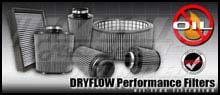"AEM Universal Conical Dryflow Air Filter - 3"" SHORT NECK Inlet, 8"" Element"