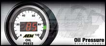 AEM Oil Pressure Display Gauge - 100 psi