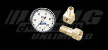 B&M Fuel Pressure Gauge Set for Vehicles with External Fuel Filter
