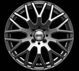 Mugen XJ Wheel - Black Metal -  17x7+53 5x114.3