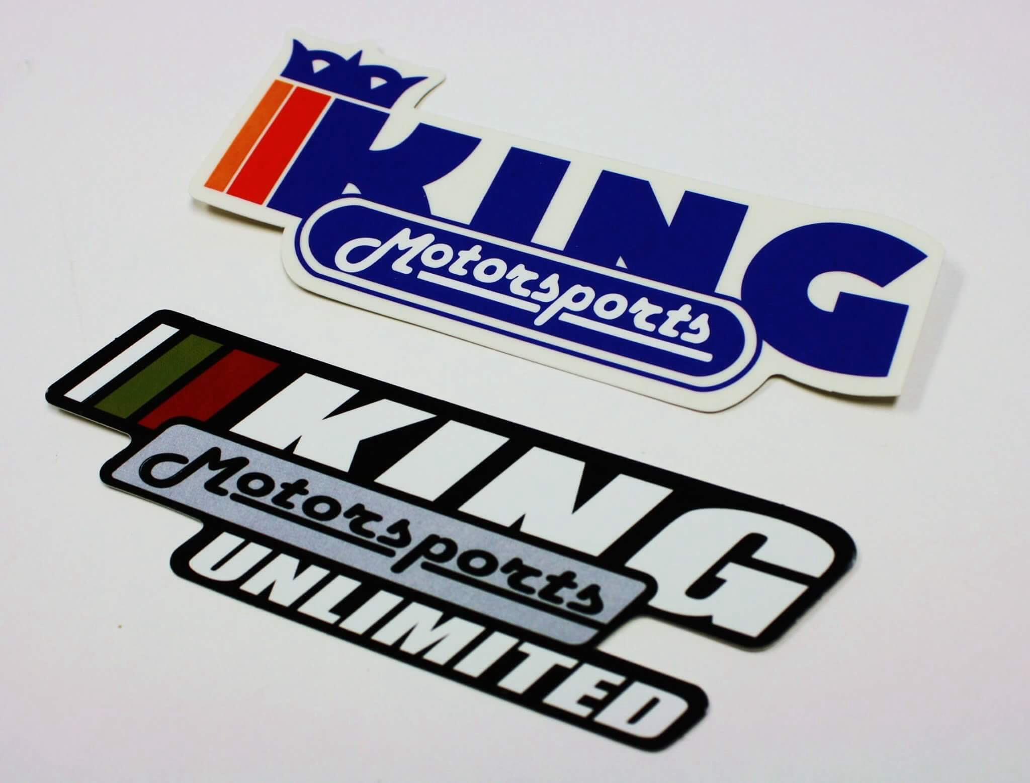 King motorsports decal set
