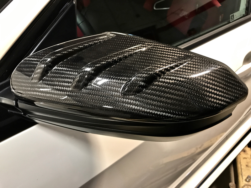 Mugen Carbon Fiber Door Mirror Cover Set