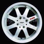 Mugen NR Racing White - 15x6.5, +45, 4x100, 16.75 lbs. each