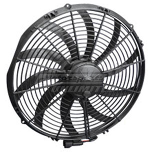 """12 Volt 14/"""" High Performance,Pull Air 1280 CFM Spal Electric Fan 17-14HP-S"""
