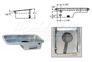 Moroso Baffled OEM Style Steel Oil Pan - B Series OEM Style Steel Oil Pan